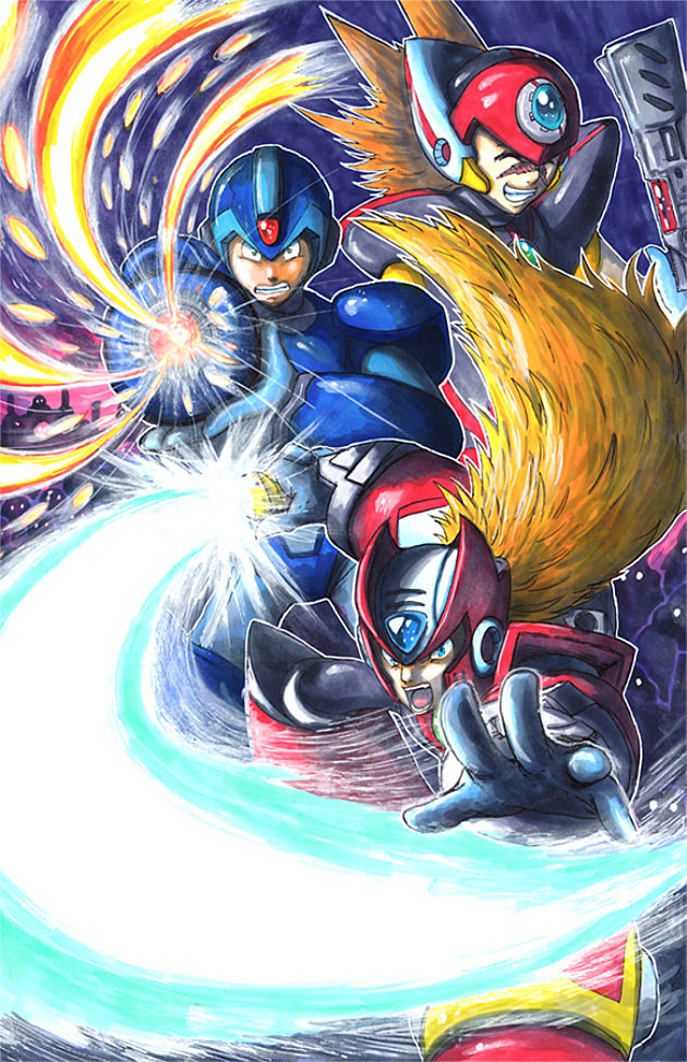 Mega Man X Trio by matsuyama-takeshi