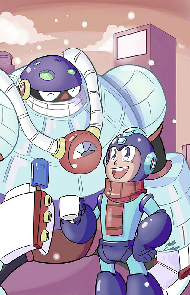 Mega Man and Frost Man